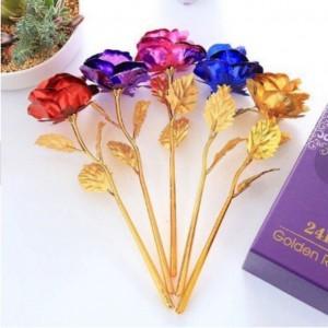 ดอกกุหลาบชุบทอง 24k (ดอกเดี่ยว) โปรโมชั่น ซื้อ 1 แถม 1 (สินค้าพร้อมส่ง)