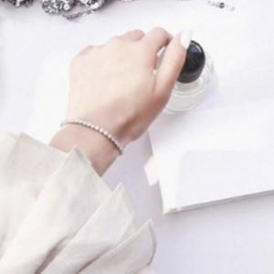 สร้อยข้อมือคริสตัล (silver) สวยหรูดูแพง ปรับระดับได้