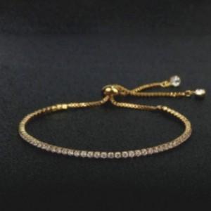 สร้อยข้อมือคริสตัล (Golden) สวยหรูดูแพง ปรับระดับได้