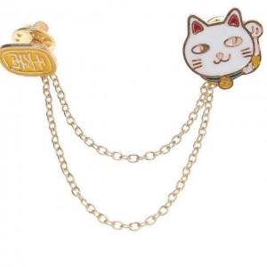 เข็มกลัด Pin ลายแมวนำโชค (Lucky Cat)
