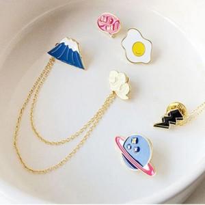 เข็มกลัด Pin ลายไข่ดาว ( Fried egg )