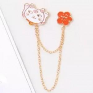เข็มกลัด Pin ลายแมวดอกไม้ (Cat flower)