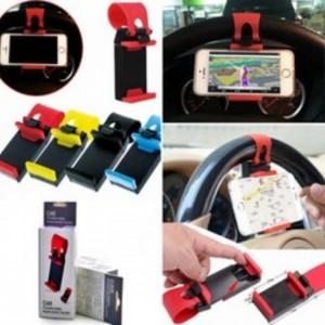 อุปกรณ์ยึดโทรศัพท์มือถือกับพวงมาลัยCar Steering Wheel Phone Socket Holder