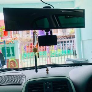 กระจกตัดแสง ผิวตรง รุ่น CRYSTAL ฐานสีดำ แพค 1 ชิ้น กระจกหน้ากว้างพิเศษ 290 mm